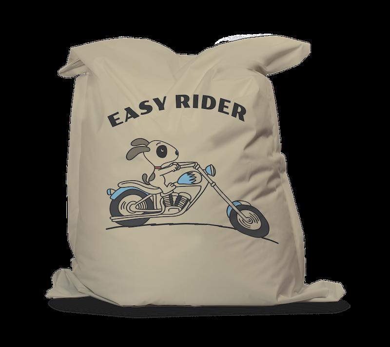 Zitzak Kleur Blauw.Zitzak Easy Rider Blauw Zitzaq Nl