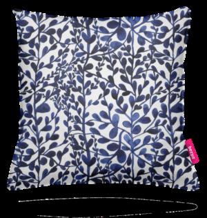 Zitzaq kussen Delfts blauwe bladeren
